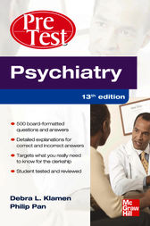 Psychiatry PreTest Self-Assessment And Review 13/E