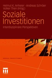 Soziale Investitionen by Helmut Anheier