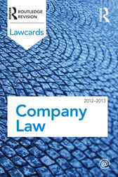 Company Lawcards 2012-2013 by Routledge