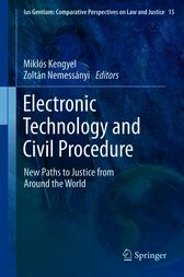Electronic Technology and Civil Procedure by unknown