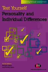 Test Yourself: Personality and Individual Differences by Penney Upton