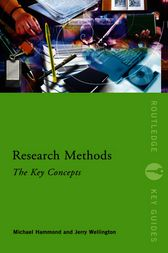 Research Methods: The Key Concepts by Michael Hammond