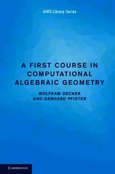 A First Course in Computational Algebraic Geometry by Wolfram Decker