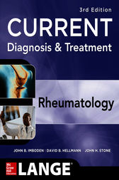 Current Diagnosis & Treatment in Rheumatology, Third Edition by John Imboden