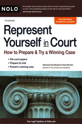 Represent Yourself in Court by Paul Bergman