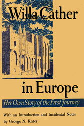 Willa Cather In Europe by Willa Cather