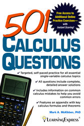 501 Calculus Questions by Mark McKibben