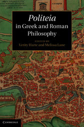 Politeia in Greek and Roman Philosophy by Verity Harte