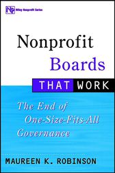 Nonprofit Boards That Work by Maureen K. Robinson