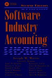 Software Industry Accounting by Joseph Morris