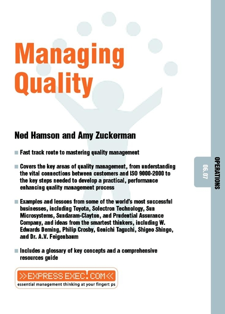 Download Ebook Managing Quality by Amy Zuckerman Pdf