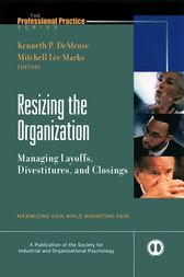 Resizing the Organization by Kenneth De Meuse