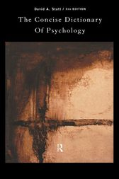 The Concise Dictionary of Psychology by David Statt