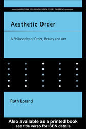 Aesthetic Order by Ruth Lorand
