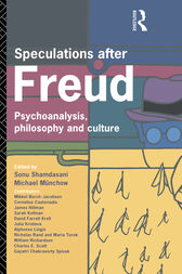 Speculations After Freud by Michael Munchow