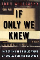 If Only We Knew by John Willinsky