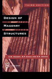 Design of Masonry Structures by A.W. Hendry