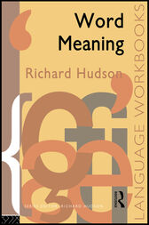 Word Meaning by Richard Hudson