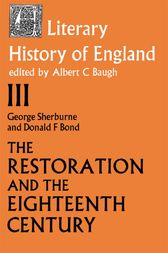 The Literary History of England by Donald F. Bond