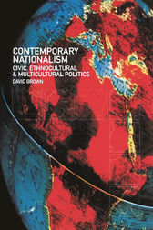Contemporary Nationalism by David Brown