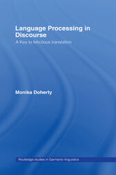 Language Processing in Discourse by Monika Doherty