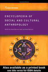 Encyclopedia of Social and Cultural Anthropology by Dr Alan Barnard