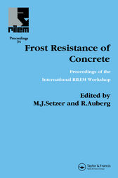 Frost Resistance of Concrete by R Auberg