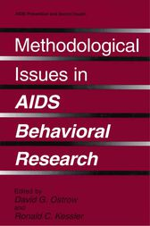 Methodological Issues in AIDS Behavioral Research by David G. Ostrow