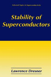 Stability of Superconductors by Lawrence Dresner