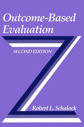 Outcome-Based Evaluation by Robert L. Schalock