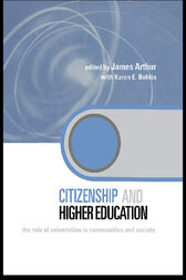 Citizenship and Higher Education by James Arthur