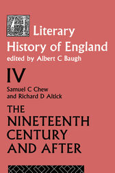 A Literary History of England Vol. 4 by A Baugh