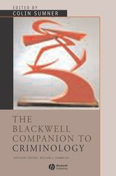The Blackwell Companion to Criminology by Colin Sumner