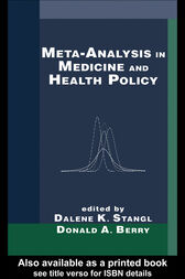 Meta-Analysis in Medicine and Health Policy by Dalene Stangl