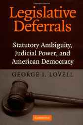Legislative Deferrals by George I. Lovell