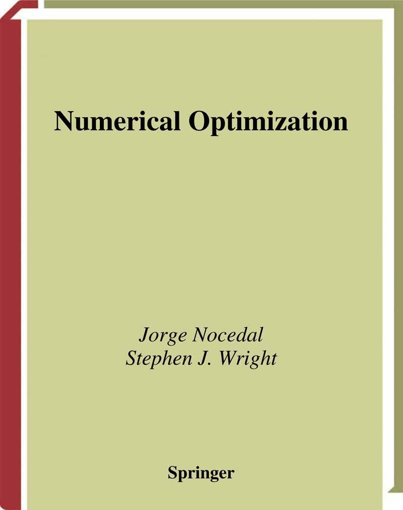 Download Ebook Numerical Optimization by Jorge Nocedal Pdf