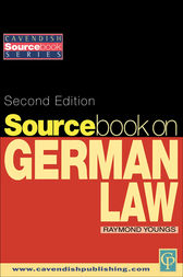Sourcebook on German Law by Raymond Youngs