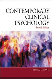 Contemporary Clinical Psychology by Thomas G. Plante