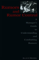 Rumors and Rumor Control by Allan J. Kimmel