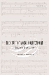 The Craft of Modal Counterpoint by Thomas Benjamin