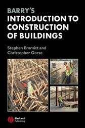 Barry's Introduction to Construction of Buildings by Stephen Emmitt