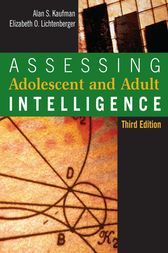 Assessing Adolescent and Adult Intelligence by Alan S. Kaufman