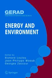 Energy and Environment by Richard Loulou