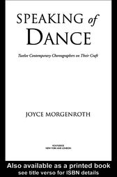 Speaking of Dance by Joyce Morgenroth