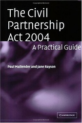 The Civil Partnership Act 2004 by Paul Mallender