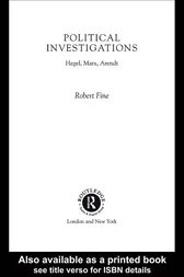 Political Investigations by Robert Fine