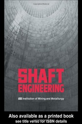 Shaft Engineering by Institution of Mining and Metallurgy
