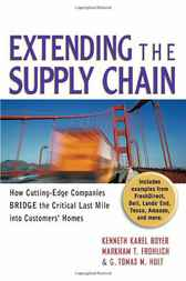 Extending the Supply Chain by Kenneth Karel Boyer