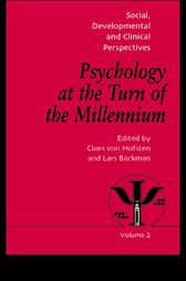 Psychology at the Turn of the Millennium, Volume 2 by Lars Backman