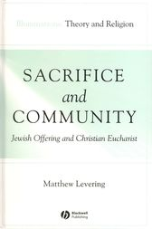 Sacrifice and Community by Matthew Levering